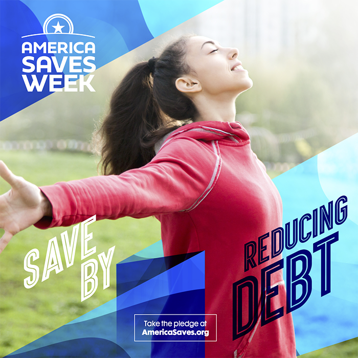 Save by reducing debt graphic