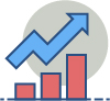 Investment graph icon