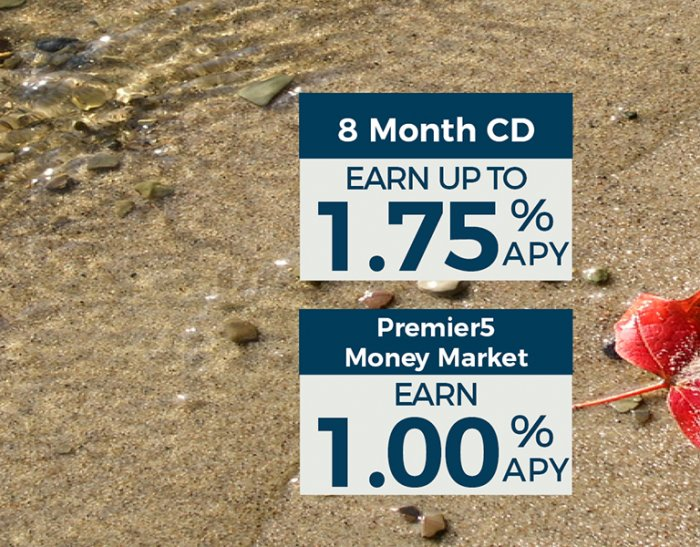 8 Month CD and Premier5 Money Market